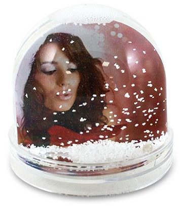 A personalised winter-inspired snow globe