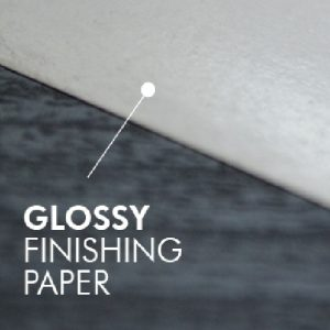 Glossy finishing paper