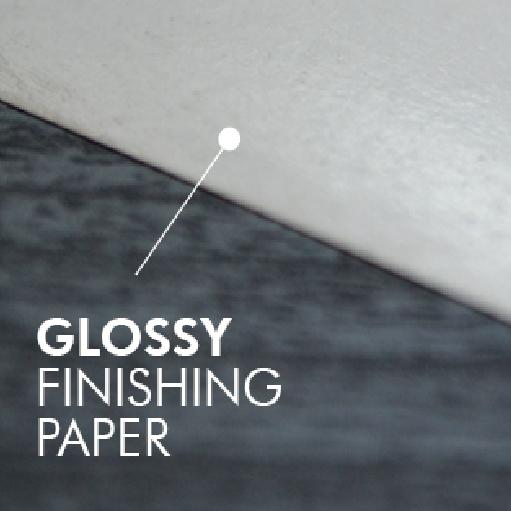 Glossy finishing paper