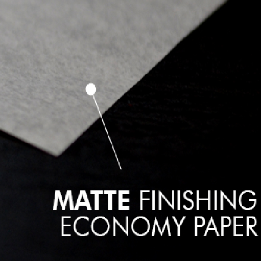 Matte finishing paper